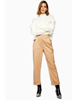 Windowpane Check Mensy Trousers by Topshop