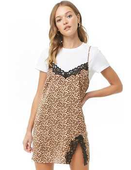 Leopard Print Slip by Forever 21