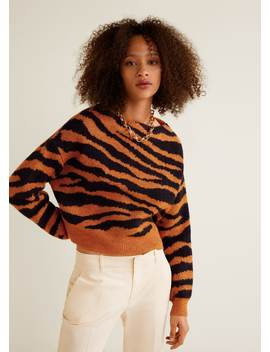 Pull Over Imprimé Tigre by Mango