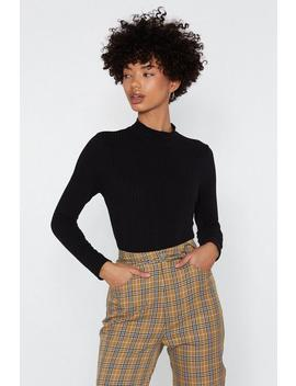 Crop It Low High Neck Sweater by Nasty Gal