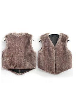 Womens Vest Winter Warm Hoodie Outwear Casual Coat Faux Fur Sherpa Jacket by Finelook