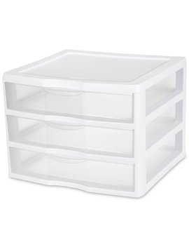 Sterilite, Wide 3 Drawer Unit by Sterilite