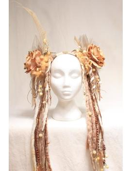 Dready Flower Headdress by Etsy