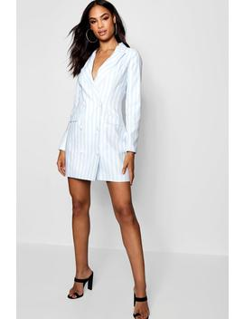 Striped Blazer Dress by Boohoo