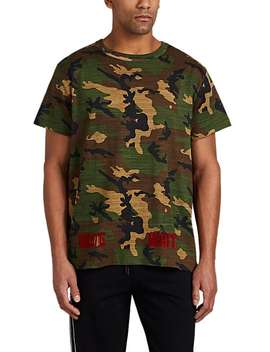 Flocked Camouflage Print Cotton T Shirt by Off White C/O Virgil Abloh