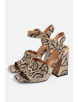 Sahara Snake Heeled Sandals by Topshop