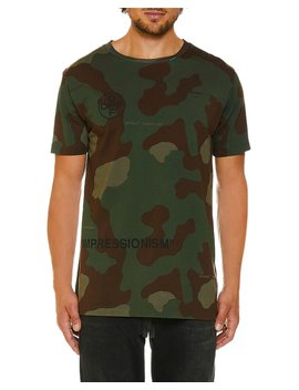 Men's Camo Jersey Slim T Shirt by Off White