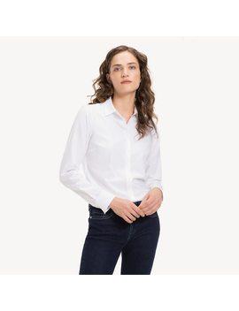 Slim Fit Overhemd Met Geborduurd Logo by Tommy Hilfiger