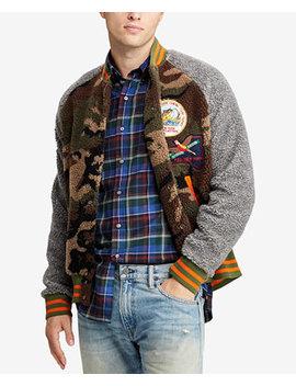 Men's Great Outdoors Camo Fleece Baseball Jacket by Polo Ralph Lauren