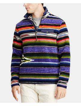 Men's Great Outdoors Striped Fleece Pullover by Polo Ralph Lauren