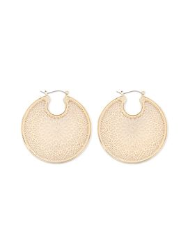Filigree Disc Earrings by Forever 21