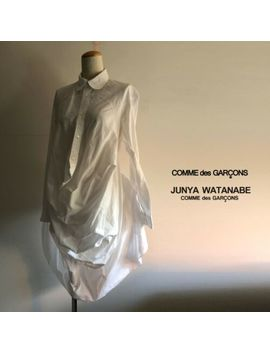 Comme Des Garcons  Junya Watanabe 3 D Shape Long White Shirt Blouse  Dress by Ebay Seller