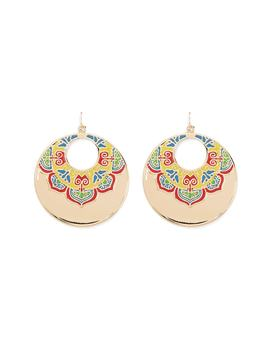 Colorful Disc Drop Earrings by Forever 21