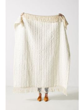 Nevin Throw Blanket by Anthropologie
