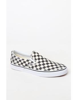 Vans Blur Check Slip On Shoes by Pacsun