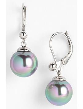 Simulated Pearl Drop Earrings by Majorica