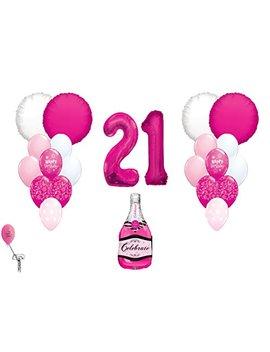 Happy 21st Birthday Balloon Bouquet by Spursgrl