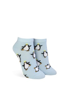 Crowned Penguin Graphic Ankle Socks by Forever 21