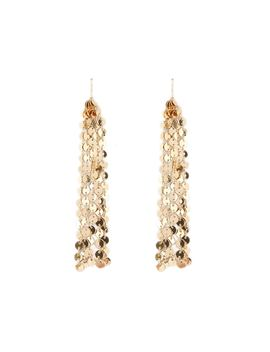 Fringe Disc Drop Earrings by Forever 21