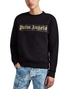 Logo Cotton Sweatshirt by Palm Angels
