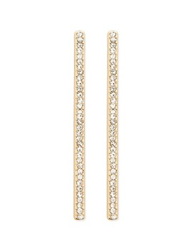 Rhinestone Bar Earrings by Forever 21