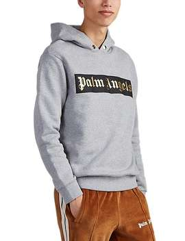 Logo Cotton Hoodie by Palm Angels