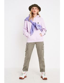 Uo Obscura Overdyed Lilac Hoodie Sweatshirt by Urban Outfitters