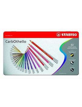 Stabilo Carb Othello Metal Box Of 60 Colours   Chalk Pastel Coloured Pencil by Stabilo