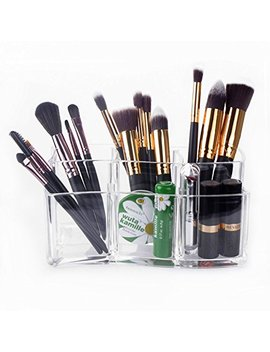 Makeup Brush Holder – Meersee Acrylic Makeup Organizers Cosmetic Brush Cylinder Clear by Czemo