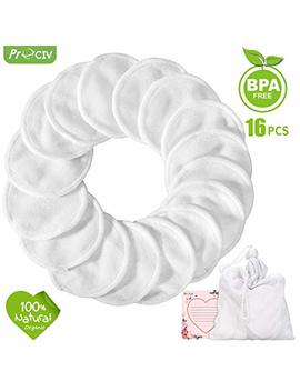 Makeup Remover Pads Reusable 16 Packs Bamboo Cotton Rounds Pads Cleansing Cloth Wipe With Laundry Bag, Pro Civ Washable Clean Skin Care Facial Toner Pads Cleansing... by Pro Civ