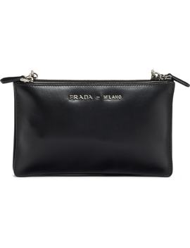 City Calfskin Leather Crossbody Bag by Prada