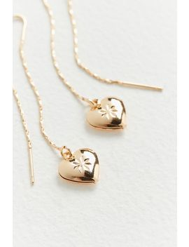 Locked Away Heart Threader Earring by Urban Outfitters