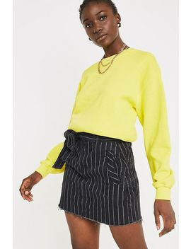 Bdg Pinstripe Paperbag Skirt by Bdg