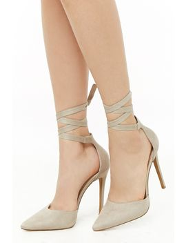 Lace Up Stiletto Pumps by Forever 21