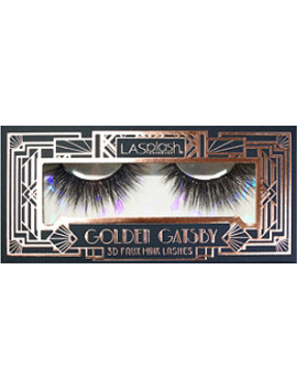 Online Only Golden Gatsby Debutante 3 D Faux Mink Lashes by La Splash Cosmetics