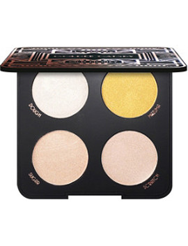 Online Only Golden Gatsby Old Money Quad Highlighter Palette by La Splash Cosmetics