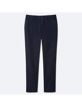 Women Linen Blend Tapered Trousers by Uniqlo