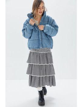 Uo Jordan Denim Puffer Jacket by Urban Outfitters