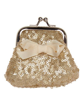 Rockahula Mini Sequin Bow Purse, Gold by Rockahula