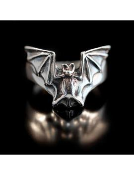 Bat Ring Silver   Bat Flight Ring   Bat Jewelry Silver Bat   Halloween Jewelry Halloween Ring   Gothic Ring Gothic Jewelry   Vampire by Etsy