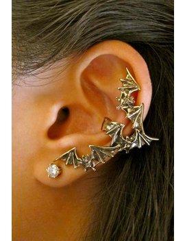 Bat Ear Cuff Bronze Bat Earring Bat Flock Ear Cuff Bat Jewelry Non Pierced Earring Non Pierced Ear Cuff Wing Earring Wing Jewelry Bat Wings by Etsy