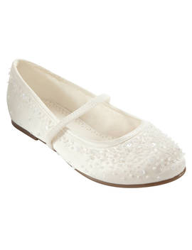 John Lewis & Partners Fairy Mary Jane Bridesmaids' Shoes, Ivory by John Lewis & Partners