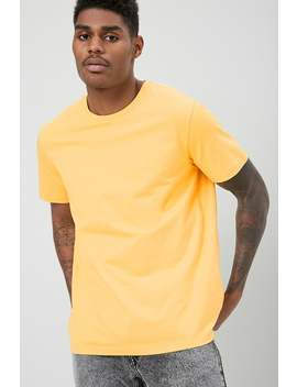 Basic Cotton Crew Neck Tee by Forever 21
