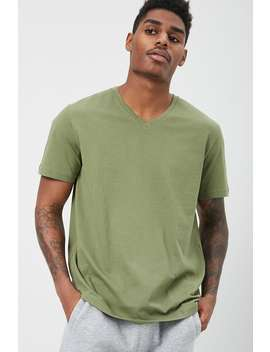 Basic Cotton V Neck Tee by Forever 21