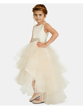 Little Girls Satin Tulle Fairy Dress by Rare Editions