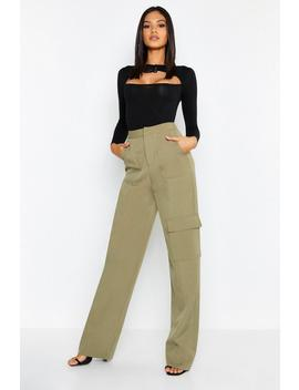 Tall Utility Pocket Wide Leg Trouser by Boohoo