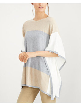 Colorblocked Poncho Sweater by Calvin Klein
