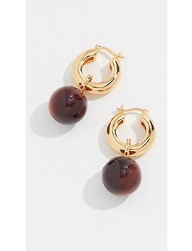 Tiger Eye Hoop Earrings by Lizzie Fortunato