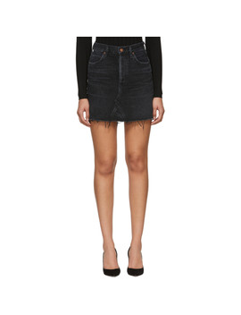 Black Denim Astrid Miniskirt by Citizens Of Humanity