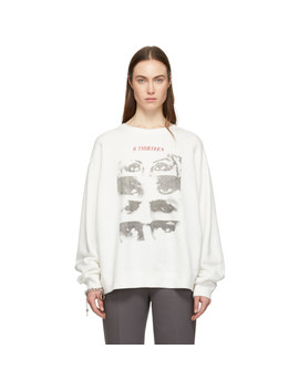 White Oversized 13 Eyes Sweatshirt by R13